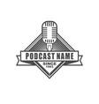 podcast logo design vector image vector image