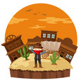 robber at the cowboy town vector image vector image