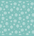 seamless pattern with snowflakes pixel-art vector image