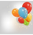 set colored balloons eps 10 vector image vector image