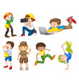set male character vector image