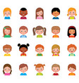 set of different avatars of boys and vector image vector image