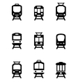 set of train icons vector image vector image