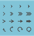 set with different arrows icon vector image vector image