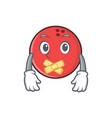 silent bowling ball character cartoon vector image vector image