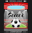 soccer stadium during sports match football arena vector image