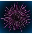 Star blast rays vector image vector image