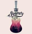 summer music open air festival guitar poster vector image