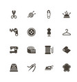 tailoring - flat icons vector image