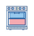 technology oven electric kitchen utensil vector image
