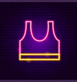 top t shirt neon sign vector image vector image