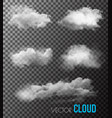 transparent set smoke vector image