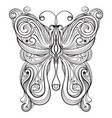 vector monochrome butterfly vector image vector image