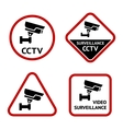 Video surveillance set sticky labels vector image vector image