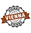 vienna round ribbon seal vector image vector image