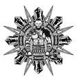 viking star axe wolf vector image vector image