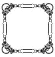 vintage frame decorative ornament black vector image