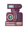 vintage old camera with flash vector image vector image
