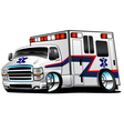 White Paramedic Ambulance Rescue vector image vector image