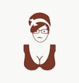 woman silhouette retro style vector image vector image