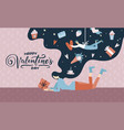 young pretty women dreams about her lover girl vector image