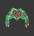 zombie valentine love hand symbol vector image vector image