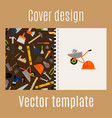cover design with construction pattern vector image