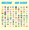 100 icon set trendy thin and simple icons for web vector image vector image