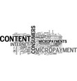 a closer look at micropayments text word cloud vector image vector image