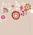 abstract flowers greeting card vector image