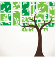 abstract tree stock vector image vector image