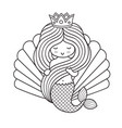 adorable little princess mermaid holding her long vector image