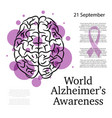 alzheimer awareness background vector image