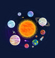 astronomy space astrology concept solar system vector image vector image