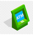atm isometric icon vector image vector image