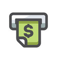 atm money payment icon cartoon vector image