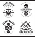 barber shop badges set barbers hand lettering vector image vector image