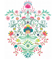 Beautiful floral ornament vector image