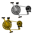 Bicycle transmission set vector image