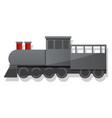 black locomotive icon cartoon style vector image