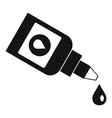 Bottle for eye drops icon simple style vector image