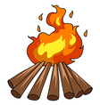 Campfire vector image