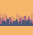 cartoon cityscape empty flat city silhouette vector image vector image