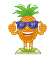 cartoon pineapple vector image vector image