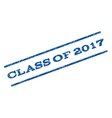 Class Of 2017 Watermark Stamp vector image