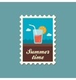 Cocktail flat stamp summertime vector image
