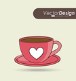 coffee time icon design vector image