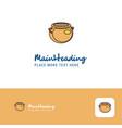 creative pot logo design flat color logo place vector image