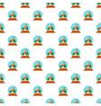 deer glass snow ball pattern seamless vector image