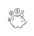 deposit of money line icon concept deposit of vector image vector image